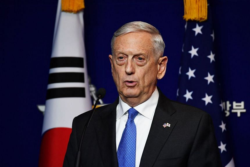 """US Secretary of Defence James Mattis maintained that diplomacy remained a """"preferred course of action"""" but stressed, """"our diplomats are most effective when backed by credible military force""""."""