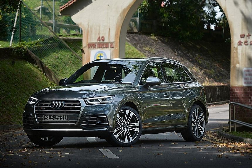 The Audi SQ5 has plenty of grunt from its turbocharged 3-litre V6, bristling with 500Nm of torque from 1,370rpm.