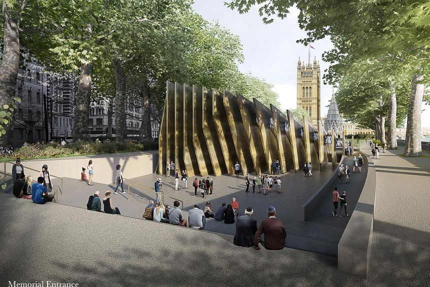 London's planned Holocaust memorial (above and left), designed by a team led by Ghanaian-British architect David Adjaye.