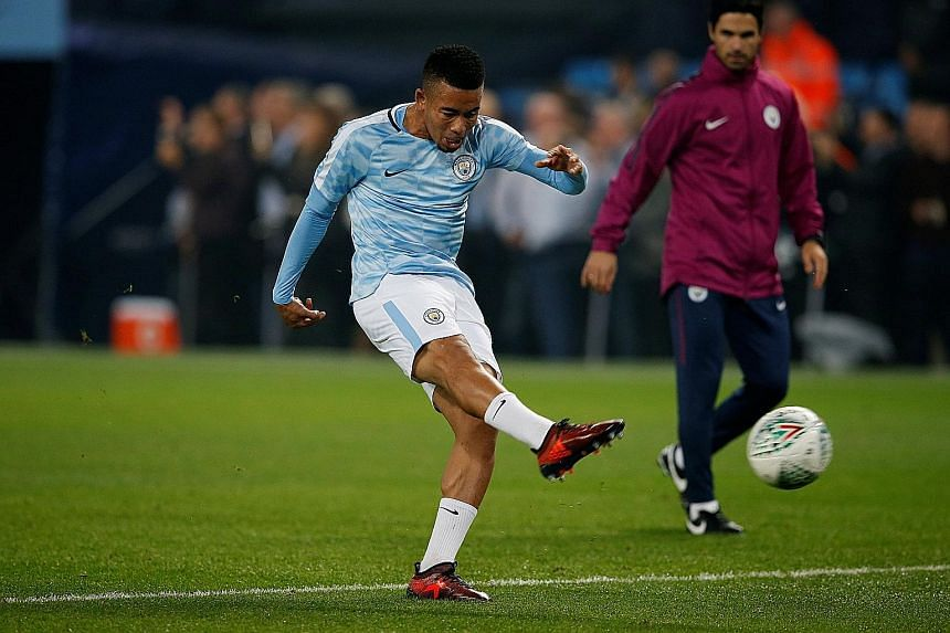 Manchester City will be counting on striker Gabriel Jesus to deliver the goals against West Brom.