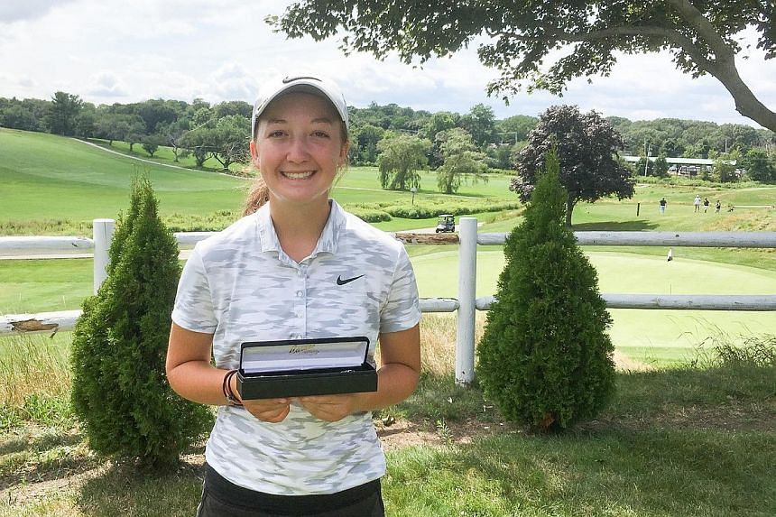 Emily Nash after winning the Massachusetts Golf Association's WGAM Junior Amateur Championship on on Aug 8.