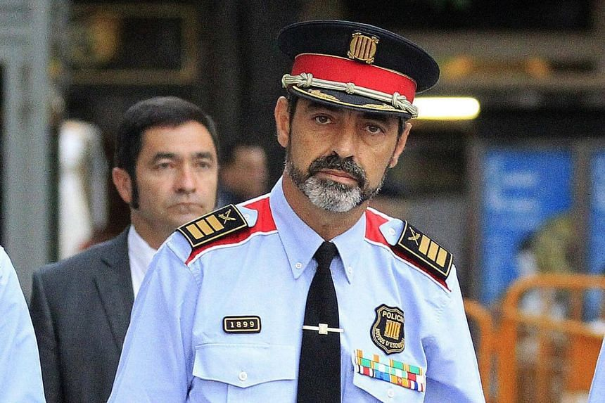 Josep Lluis Trapero became a hero to the secessionists after his force took a much softer stance than national police in enforcing a government ban on an independence referendum on Oct 1.