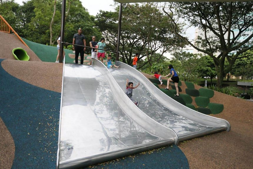 The newly opened Admiralty Park has 26 new slides at three new play areas - the Adventure, Family and Junior Areas.