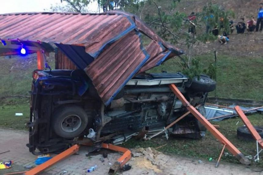 Tunku Alang Reza Tunku Ibrahim was in the back of a four-wheel drive vehicle with three others when it crashed into a bus stop.