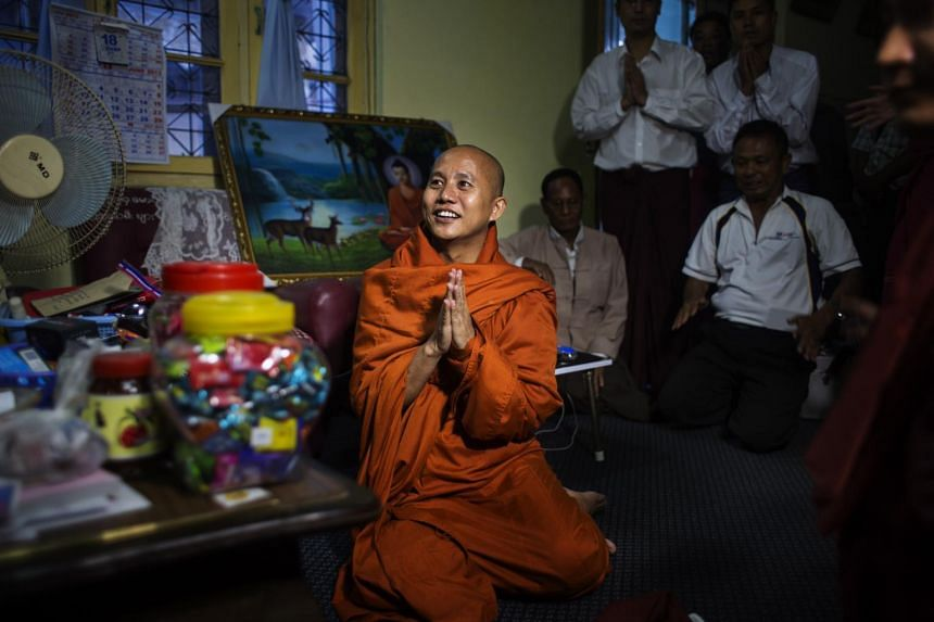Ashin Wirathu, an ultranationalist Buddhist monk, at Thein Taung Monastery in Taunggyi, Myanmar, on June 18, 2013.