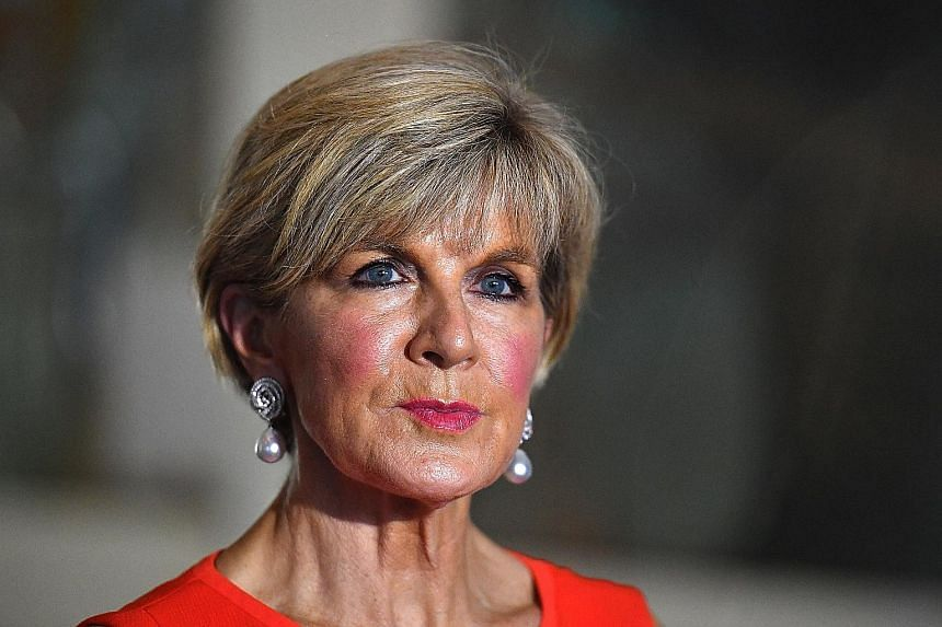 Ms Julie Bishop is a member of Prime Minister Malcolm Turnbull's Liberal Party.