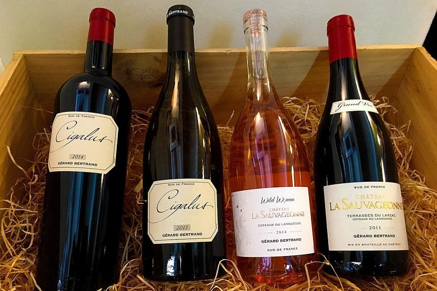The Gerard Bertrand bundle features four biodynamic wines from two estates in southern France.