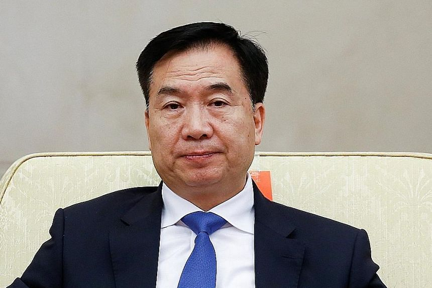 Mr Li Xi (top), 61, is a protege of President Xi Jinping. His appointment as party chief of Guangdong province was announced by Organisation Department chief Chen Xi (above), 64, an ally of Mr Xi.