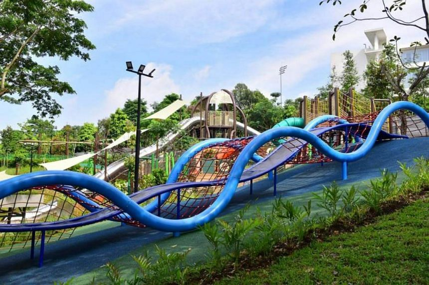 The newly opened Admiralty Park features 26 different slides at three new play areas - the Adventure, Family and Junior Areas.