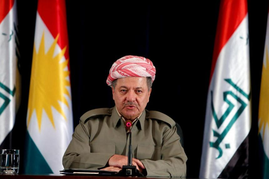 Iraqi Kurdish leader Masoud Barzani (pictured) says he will be stepping down by Nov 1.