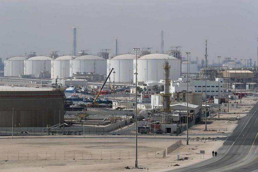 The Ras Laffan Industrial City, Qatar's principal site for production of liquefied natural gas and gas-to-liquid, administrated by Qatar Petroleum, some 80 kilometers north of the capital Doha, on Feb 6, 2017.