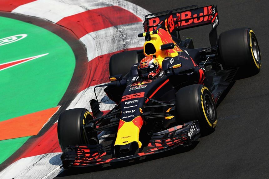Verstappen driving during practice for the Mexican grand prix.