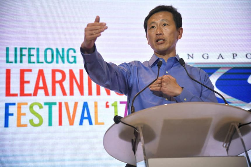 Mr Ong Ye Kung, Minister for Education (Higher Education and Skills)  delivers his speech at the Lifelong Learning Festival 2017.