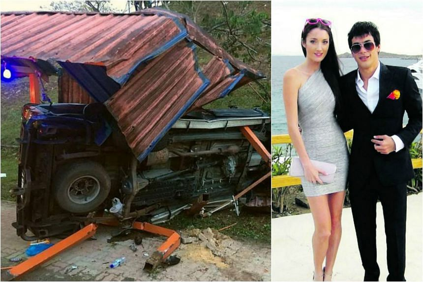 Tunku Alang Reza Tunku Ibrahim (right), a suspect in the murder of an Estonian model Regina Soosalu in Malaysia three years ago, has been killed in a car crash in Johor.