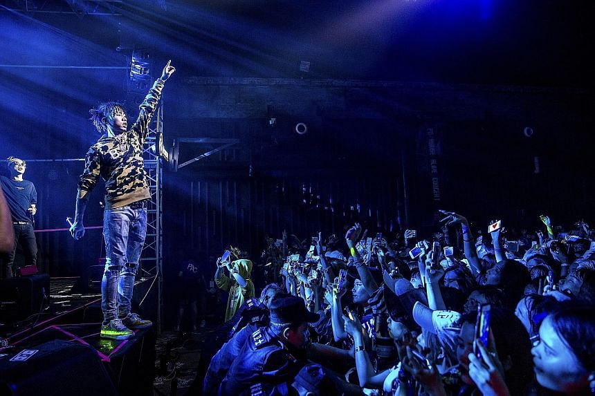 Masiwei of the Higher Brothers performs in Chengdu, China, a sprawling metropolis that is quickly becoming a hotbed of hip-hop, particularly rap.