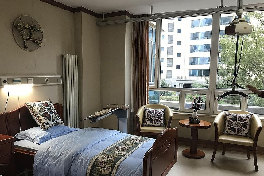 All 1,500 beds at the Yanda International Health Centre's retirement home are occupied, with 90 per cent of the residents from Beijing.
