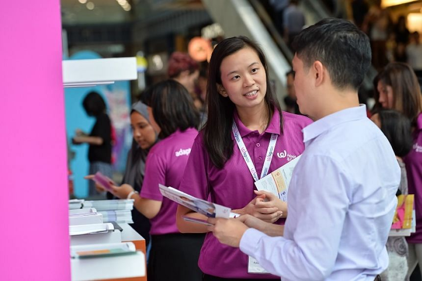 Visitors can get advice from career coaches and learn about programmes to help them get training or move into new careers.