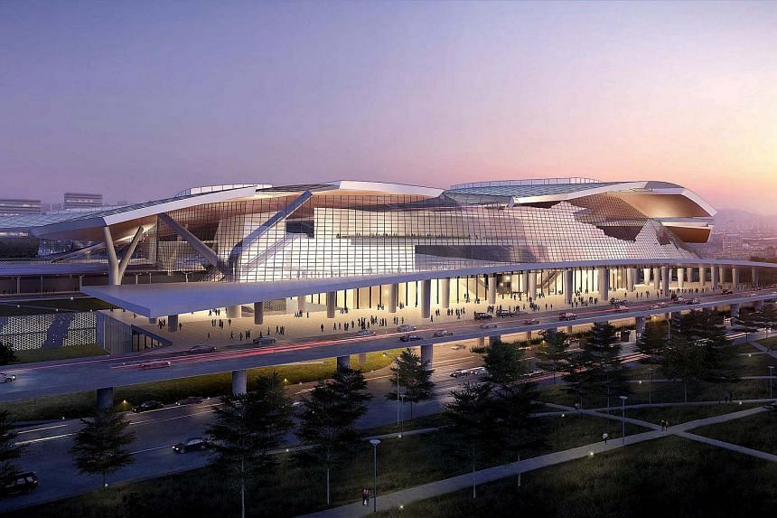 An artist's impression of the upcoming Iskandar Puteri high speed rail station. MyHSR Corp, which is working with Singapore's LTA on the project, is getting public input on the railway that will link Singapore and KL.
