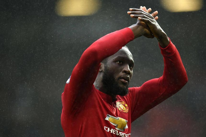 Manchester United's Belgian striker Romelu Lukaku after the English Premier League football match at Old Trafford in Manchester, north west England, on Oct 28, 2017.
