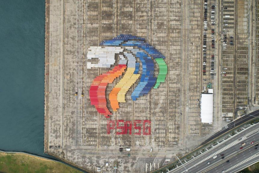 PSA achieved a first-ever Guinness World Records Title for the Largest Shipping Container Image with a Lion Head formation at Tanjong Pagar Terminal, made up of 359 containers.