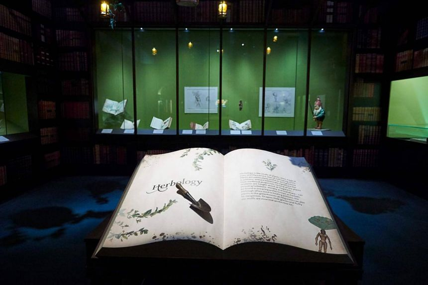Artefacts and memorabilia are displayed during a preview of Harry Potter: A History Of Magic exhibition at the British Library, in central London.