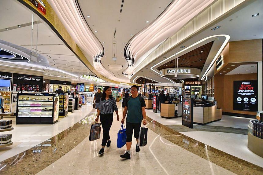 Shilla Duty Free and DFS stores at Changi Airport Terminal 4.
