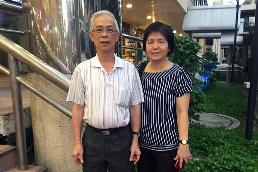 Mr Lim Huah Yong got help early thanks to his wife Lee Hui Theng, 57, seen here by his side.