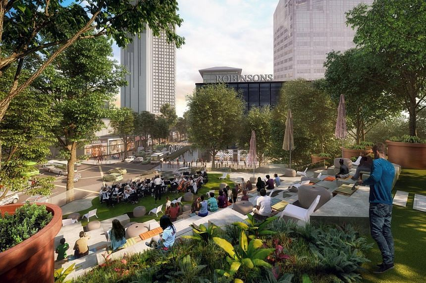 The project, first announced in April, is a joint development by STB, JTC and Spring Singapore, and is slated to be completed late next year. The rooftop plaza of Design Orchard, at the junction of Orchard and Cairnhill roads, will have an outdoor ar
