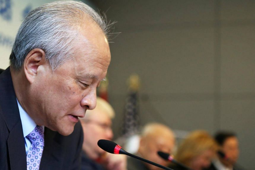 China's ambassador to Washington Cui Tiankai stressed the urgency of efforts to find a negotiated solution to the crisis over North Korea's nuclear and missile programmes.