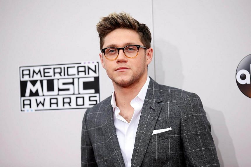 Niall Horan arrives at the 2016 American Music Awards in Los Angeles.