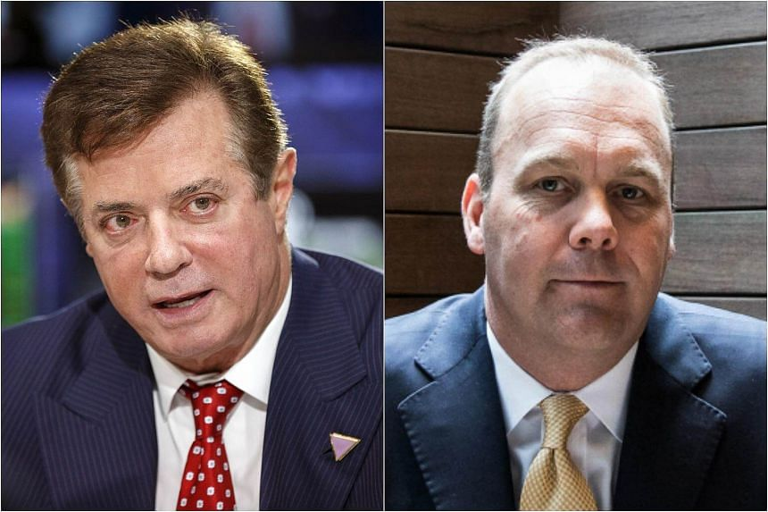President Donald Trump's former campaign chairman Paul Manafort (left) and the latter's former business associate Rick Gates were indicted on Oct 30.