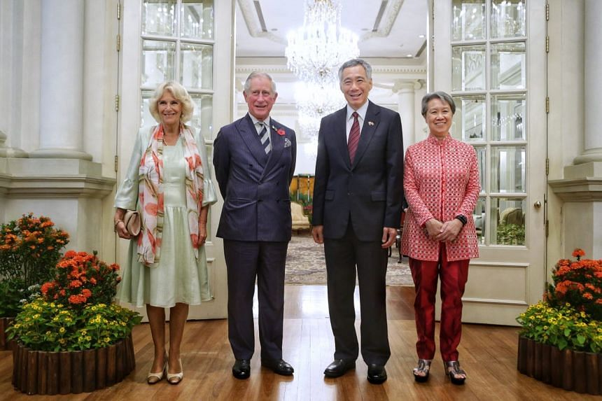 The Duchess of Cornwall and Prince Charles call on Prime Minister Lee Hsien Loong and Mrs Lee.