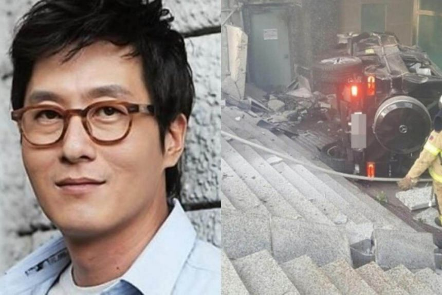 Kim Joo Hyuk was driving a Mercedes-Benz SUV down Yeongdong Daero when it crashed into Hyundai Grandeur near an I-Park apartment complex in Samseong-dong, southern Seoul, on Oct 30, 2017.