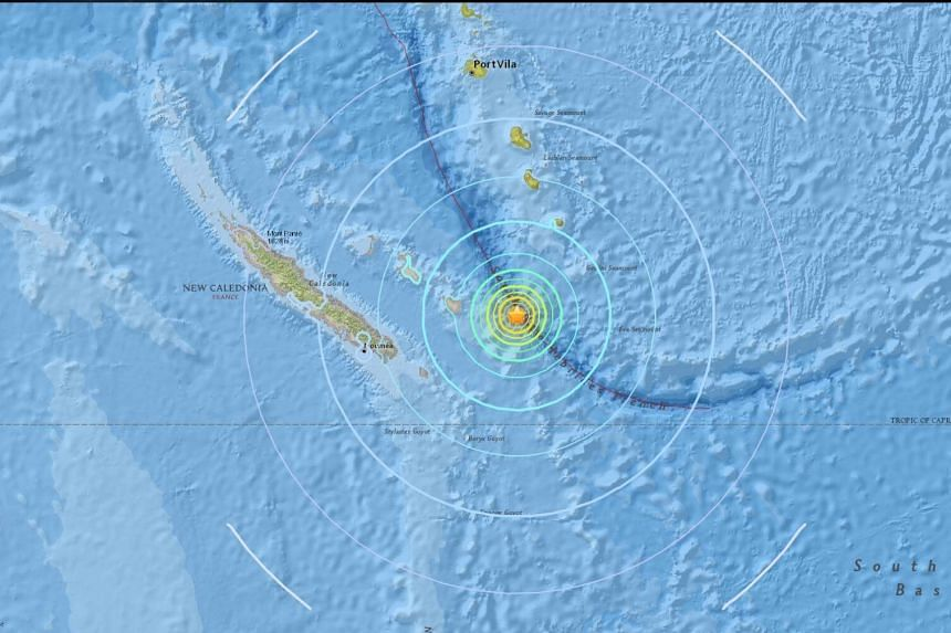 The quake, which was at a shallow depth of 15km below the seabed, did not trigger a tsunami.
