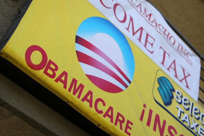 A sign on an insurance store advertises Obamacare in San Ysidro, San Diego, California, US on Oct 26, 2017.