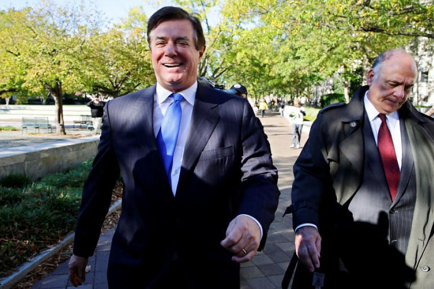 US President Donald Trump's former campaign manager Paul Manafort leaves the US District Court after a hearing in the first charges stemming from a special counsel investigation of possible Russian meddling in the 2016 presidential election in Washin