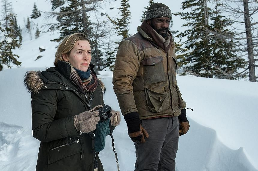 Kate Winslet and Idris Elba play two people who are stranded on the snowy mountains in Utah.