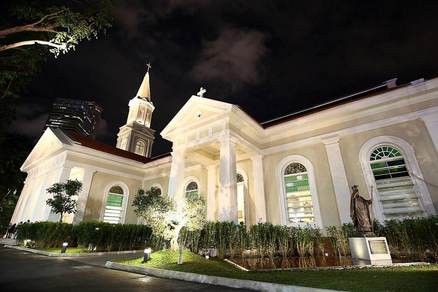 Left: The Cathedral of the Good Shepherd had many of its original architectural elements retained. Above: Mr Cheong Keng Hooi, owner of The Warehouse Hotel, a former godown along the Singapore River.