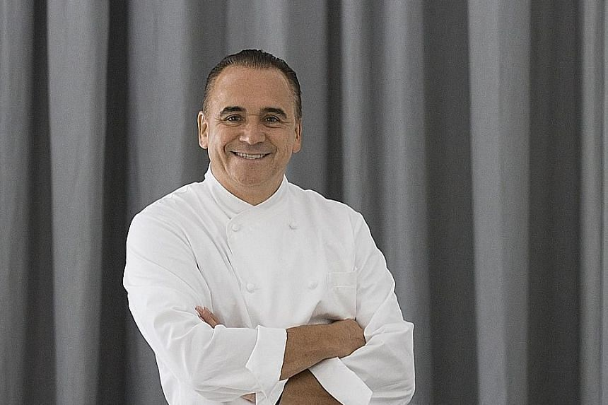Jean-Georges in New York by celebrity chef Jean-Georges Vongerichten (left) has been downgraded from three stars to two.