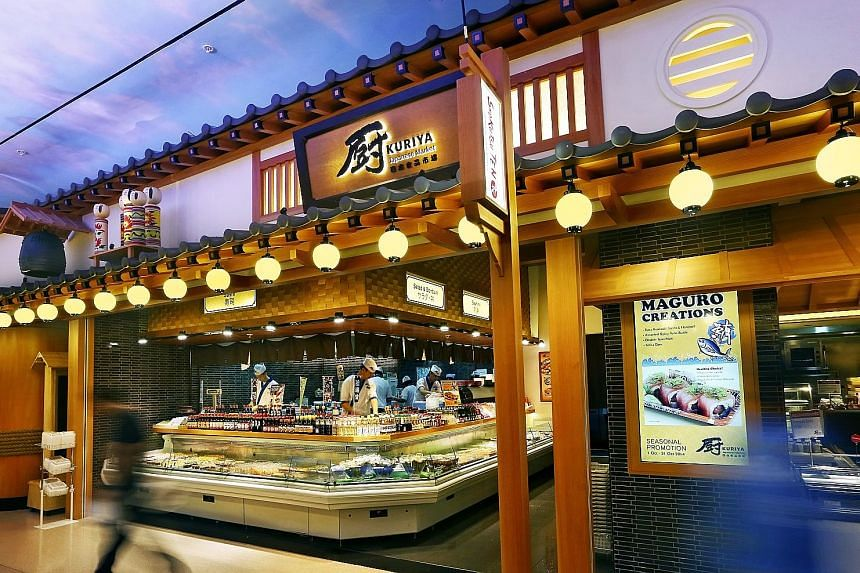 The Kuriya Japanese Market Yokocho restaurant at Tampines 1 mall. Restaurant group RE&S recorded net profit of $5.7 million in the year ended June 30 this year, almost double the $2.9 million it made a year earlier.