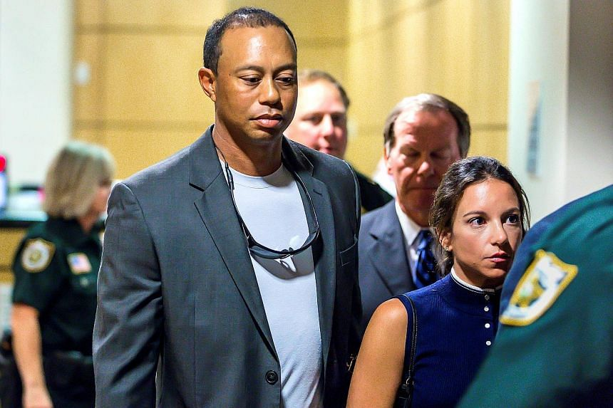 Tiger Woods in a Florida courtroom, after pleading guilty last Friday to reckless driving. He will return after a nine-month injury layoff.