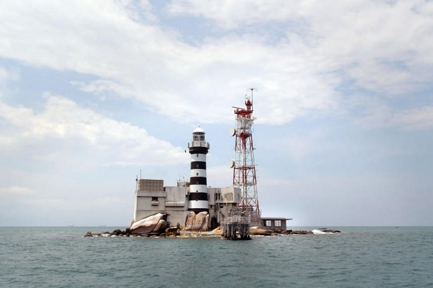 Pedra Branca and Middle Rocks on April 4, 2017.