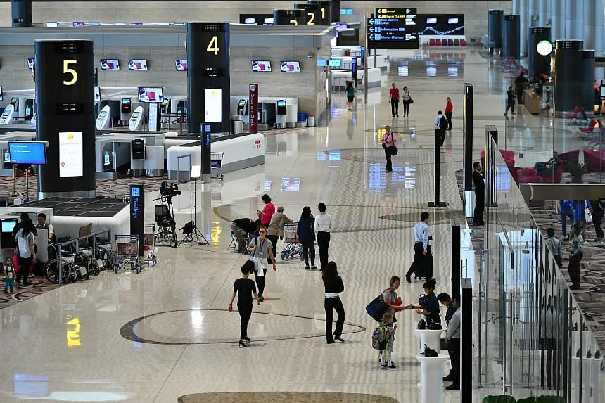 Changi Airport's Terminal 4 opening its doors to welcome passengers on Oct 31, 2017.