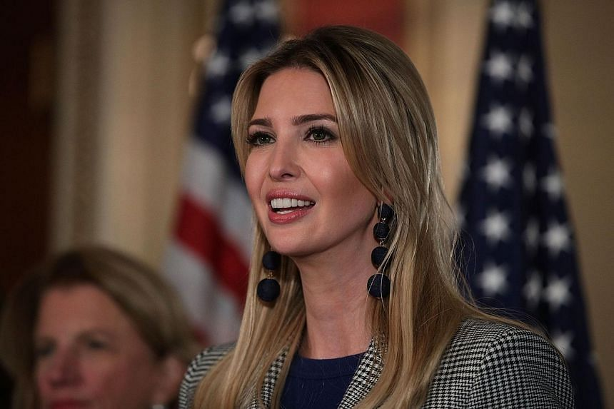 Adviser and daughter of President Donald Trump, Ivanka Trump, speaks during a news conference at the Capitol, on Oct 25.
