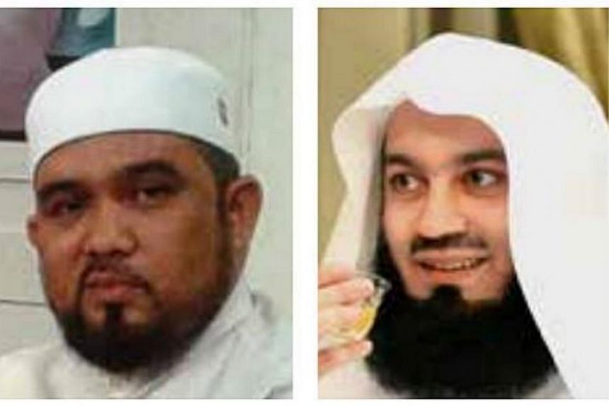 Singapore on Monday barred Zimbabwean Ismail Menk (right) and Malaysian Haslin Baharim as their hardline teachings ran counter to the Republic's multicultural and multi-religious values.