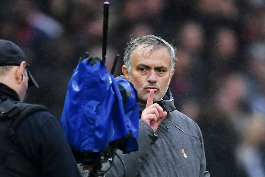 Mourinho held a finger to his lips and told the doubters to calm down after his side beat Tottenham 1-0.
