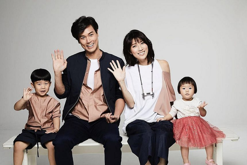 Married couple Andie Chen and Kate Pang and their children - Aden, three, and Avery, one.