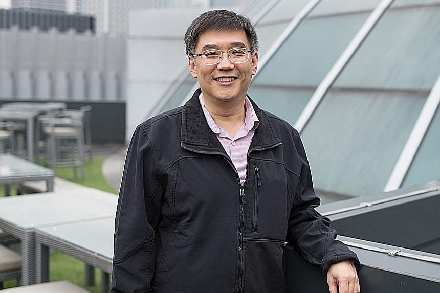 Mr David Koh, 49, was a Shell ventures manager before enrolling in the Singapore Management University's juris doctor programme.