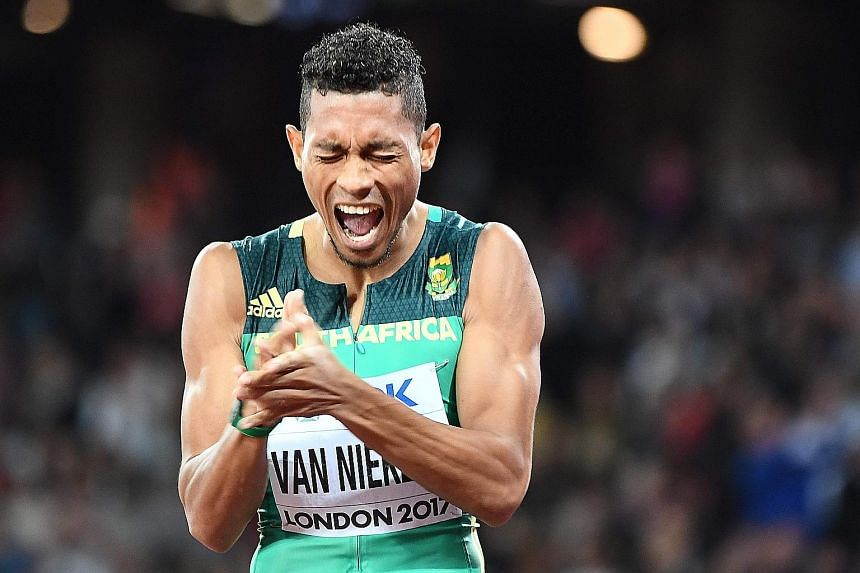 Wayde van Niekerk is delighted with second place in the 200m at August's World Championships despite being beaten by Turkey's Ramil Guliyev, thus missing out on a rare double in the 200m and 400m.