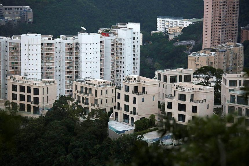 A general view of the Mount Nicholson project in Hong Kong's exclusive Peak district.